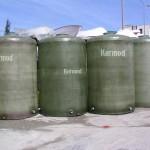 خزانات المياه المقطعية