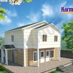 تصاميم بيوت طابقين