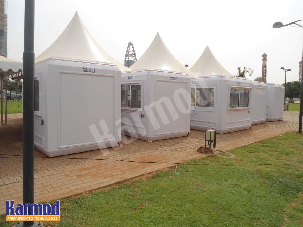الكرفانات في المخيم